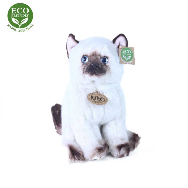 plyšová mačka siamské sediaci, 25 cm, ECO-FRIENDLY