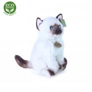 plyšová kočka siamská sedící, 25 cm, ECO-FRIENDLY
