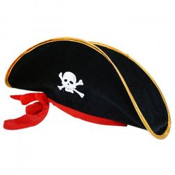 klobúk kapitán pirát so stuhou pre dospelých