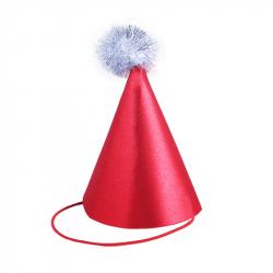 Vianočný brokátový klobúčik