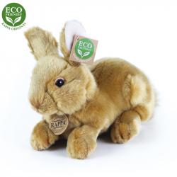 Plyšový králík hnědý ležící, 23 cm, ECO-FRIENDLY