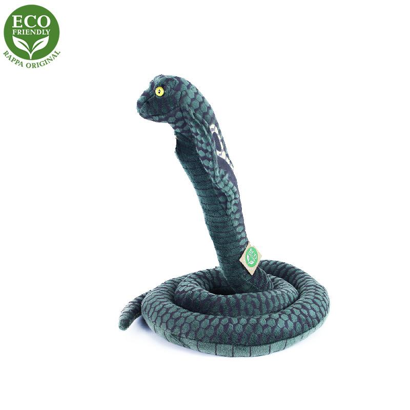 Plyšový had kobra, 178 cm, ECO-FRIENDLY