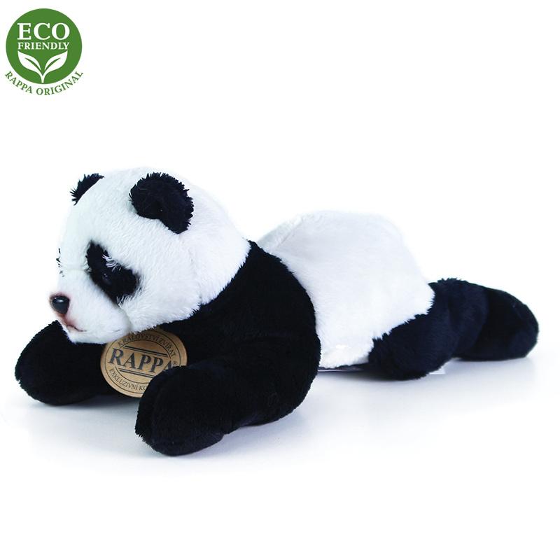 Plyšová panda ležiaci, 18 cm, ECO-FRIENDLY