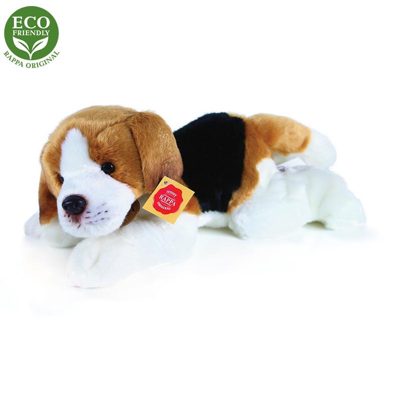 Plyšový pes Bígl ležiaci, 30 cm, ECO-FRIENDLY