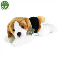 Plyšový pes Bígl ležící, 30 cm, ECO-FRIENDLY
