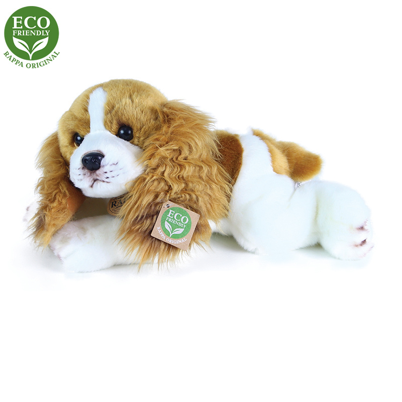 Plyšový pes Kokeršpaniel ležiace, 30 cm, ECO-FRIENDLY