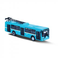 Kovový trolejbus DPO Ostrava modrý, 16 cm