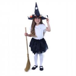 Detský kostým tutu sukne čarodejnice / Halloween