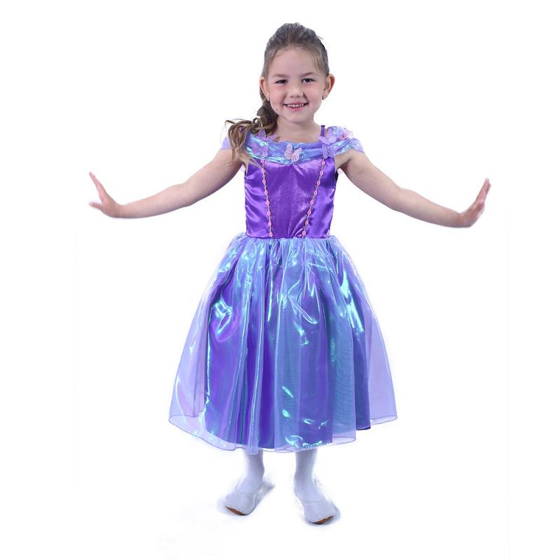 Dětský kostým fialová princezna (M)