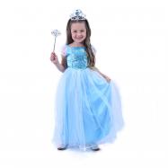 Dětský kostým modrá Princezna (S)