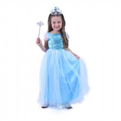 Kostium dziecięcy niebieski Princess (S)