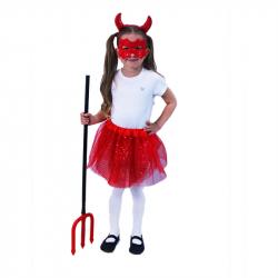Detský kostým tutu sukne Čertica