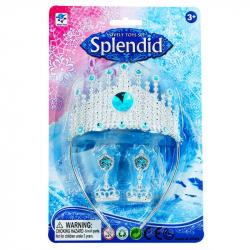Korunka zimné kráľovstvo princezná s náušnicami