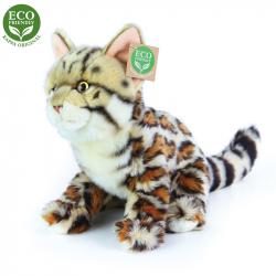 plyšová kočka bengálská sedící, 23 cm