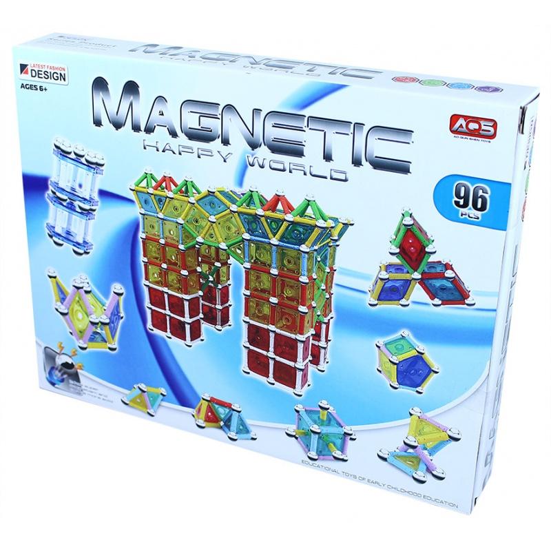Stavebnice magnetická 3D, 96 dílů