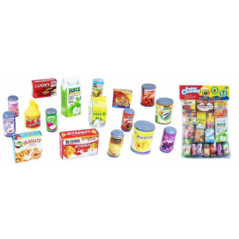 Potraviny a nápoje na hraní, 17 ks