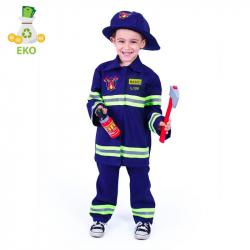 Kostium strażaka dla dzieci z czeskim nadrukiem (M) EKO