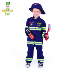 Kostium strażaka dla dzieci z czeskim nadrukiem (S) EKO