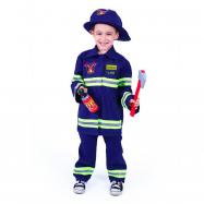 Kostium strażaka z czeskim nadrukiem dla dzieci (L)