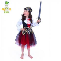 Detský kostým Pirátky (S) EKO
