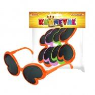 brýle karnevalové motýl, 4 ks v sáčku