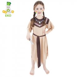 Detský kostým Indiánka s pásikom (M) EKO