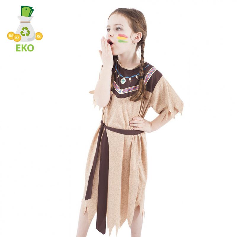 Kostium Indianina dla dzieci z paskiem (M) EKO