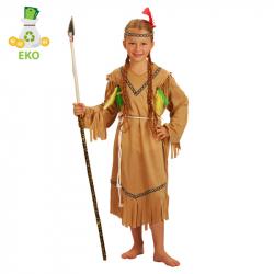 Detský kostým indiánka s čelenkou (M) EKO