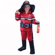 Kostium strażaka z czeskim nadrukiem dla dzieci (S)