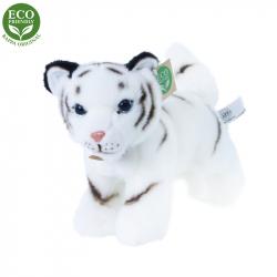 Plyšový tygr bílý mládě stojící, 22 cm, ECO-FRIENDLY