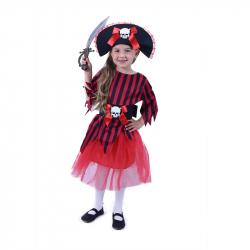 Detský kostým Pirátky s klobúkom (S)