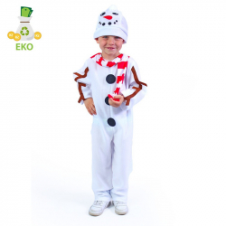 Detský kostým snehuliak (S) EKO
