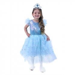 Dětský kostým Princezna modrá (L)