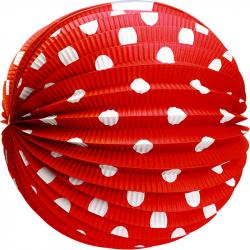 Papierový lampión červený 25 cm
