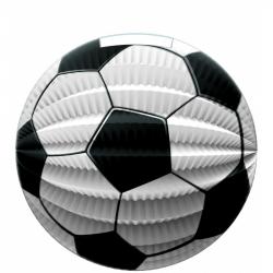 Papierový lampión futbalová lopta 23 cm