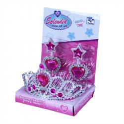 Korunka princezná s náušnicami ružová