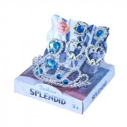 Korunka princezná s náušnicami modrá
