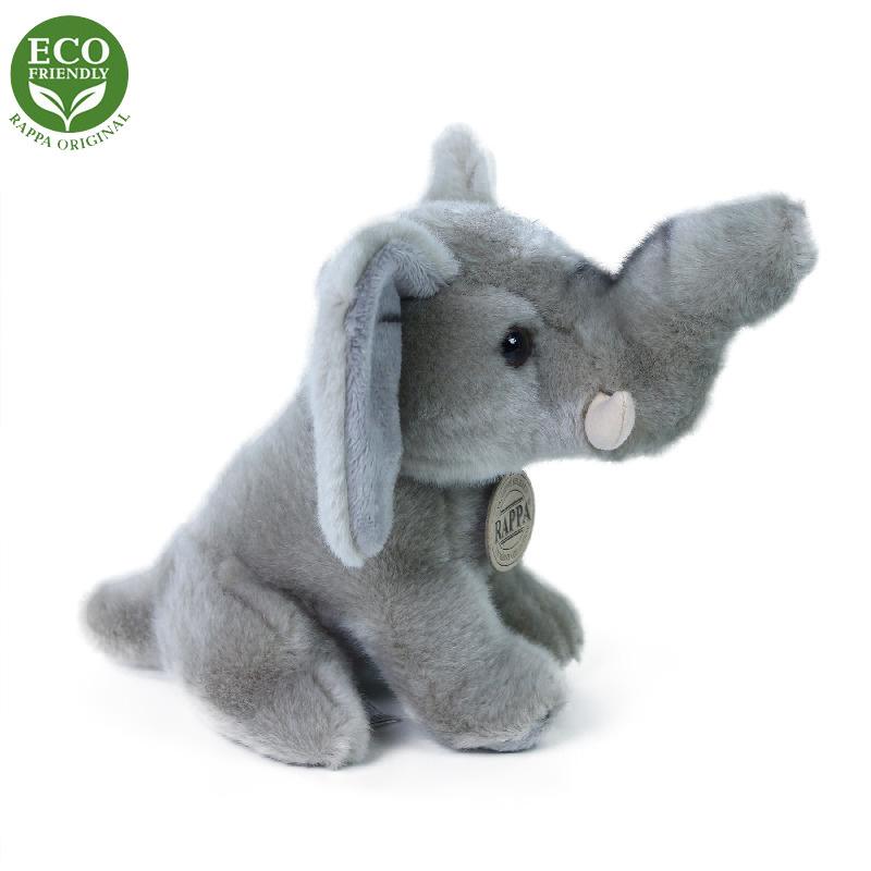 Plyšový slon sediaci 18 cm ECO-FRIENDLY