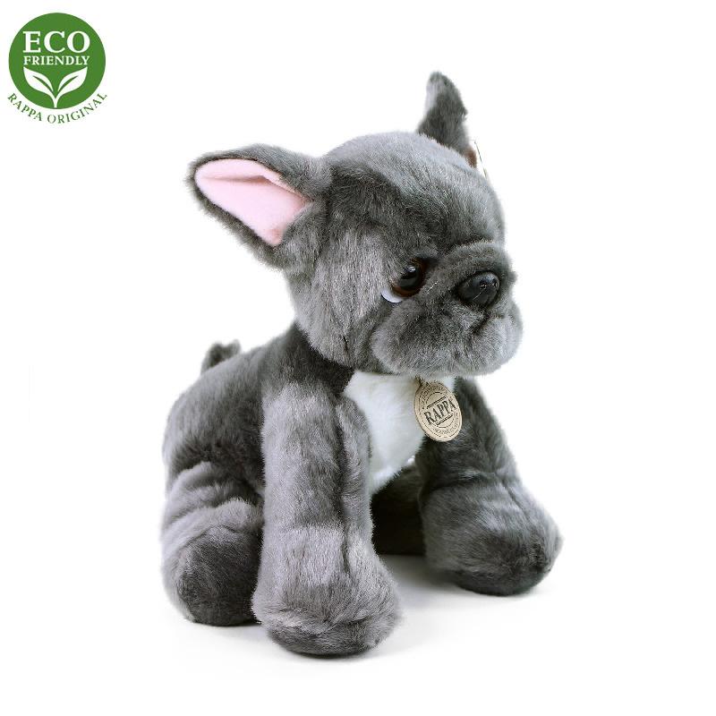 Pluszowy Pies Buldog Francuski Siedzący 26 cm EKOLOGICZNY