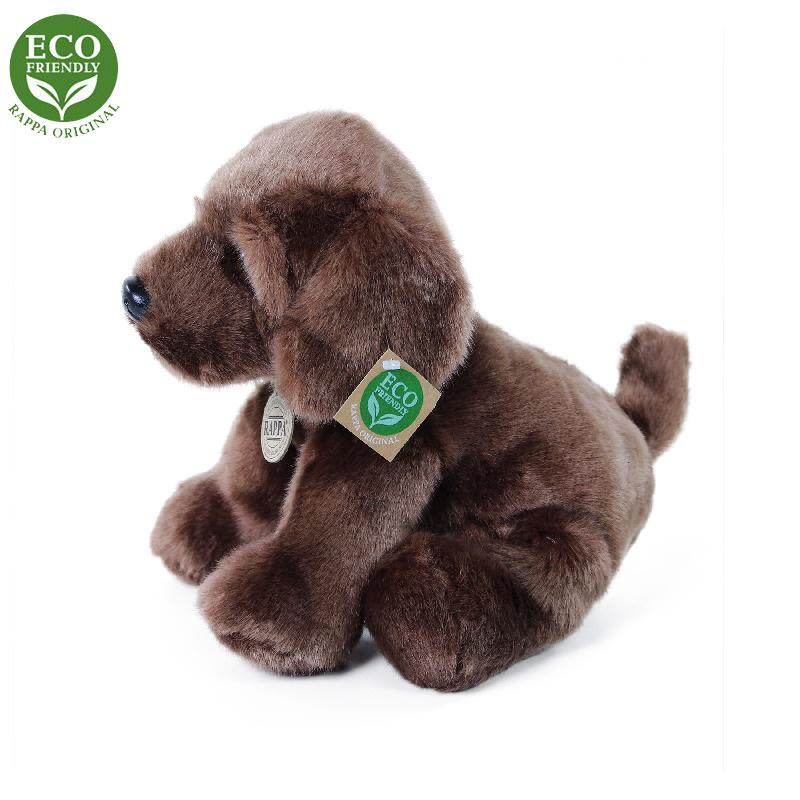 Plyšový pes labrador sedící 26 cm ECO-FRIENDLY