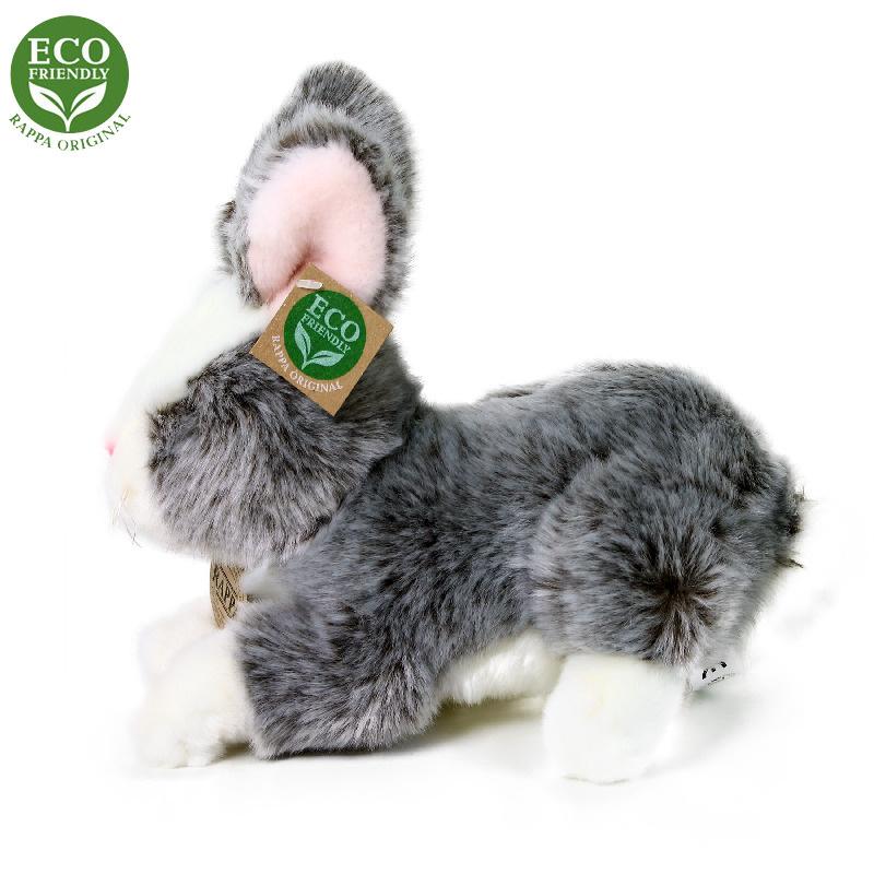 Pluszowy królik leżący 23 cm EKOLOGICZNY