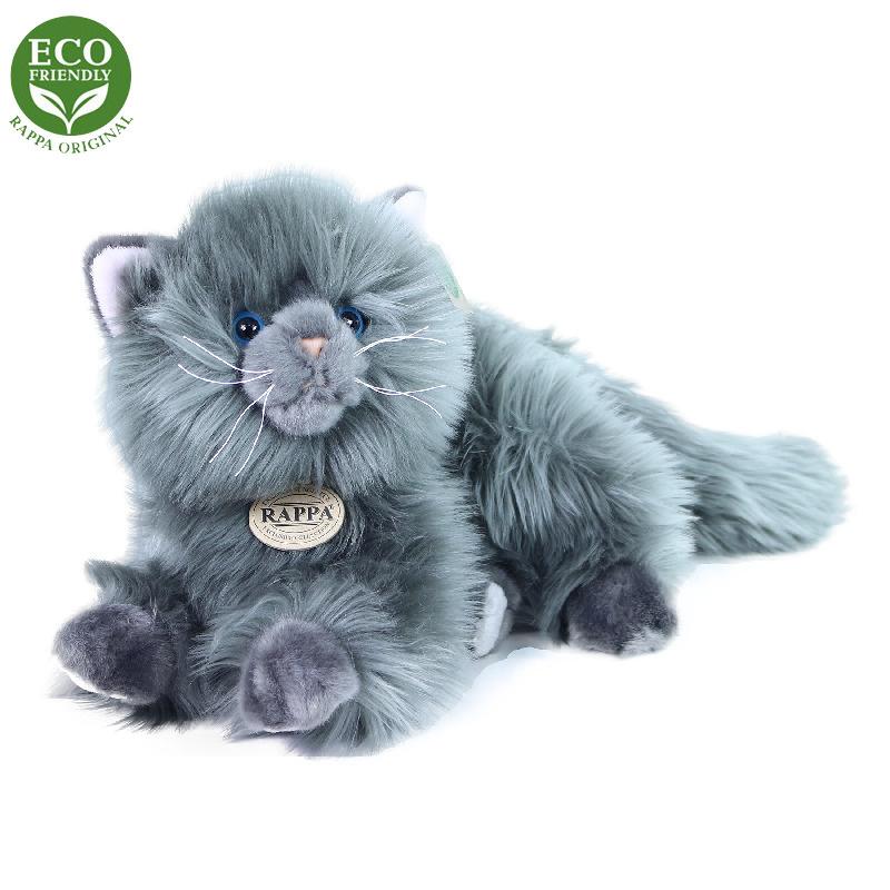 Plyšová perská kočka šedá ležící 30 cm