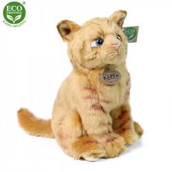 Plyšová kočka hnědá 25 cm ECO-FRIENDLY