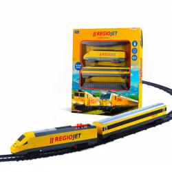 Vlak žlutý RegioJet se zvukem a světlem