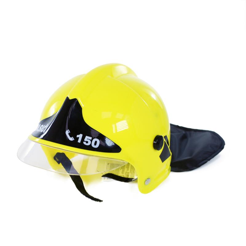 Helma / prilba hasičská žltá detská s českým potlačou HASIČI
