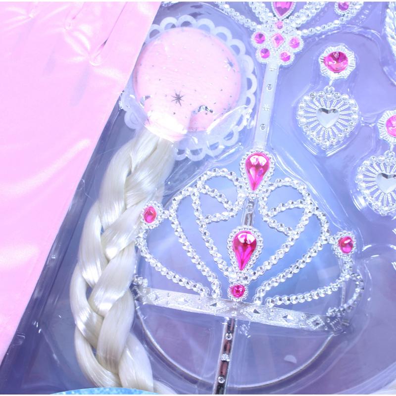 Sada princezná s rukavicami ružová