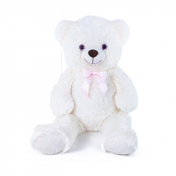 Velký plyšový medvěd Lily 78 cm krémově bílý s visačkou