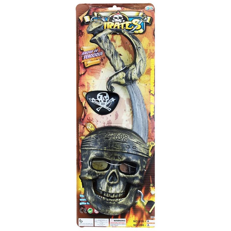 Sada pirátská s maskou, 3 ks