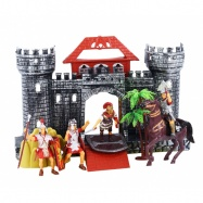 Hrad s rytíři a koněm
