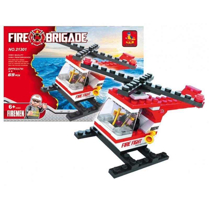 Stavebnice Ausini hasiči vrtulník, 69 dílů